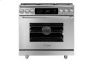 """36"""" Heritage Dual Fuel Epicure Range, Silver Stainless Steel, Natural Gas Product Image"""