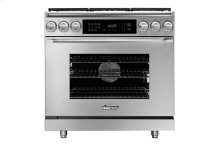 """36"""" Heritage Dual Fuel Epicure Range, Silver Stainless Steel, Natural Gas/High Alttitude"""