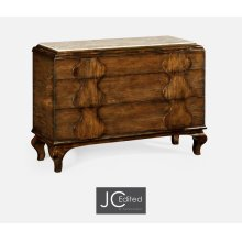 Rustic Walnut Chest of Drawers