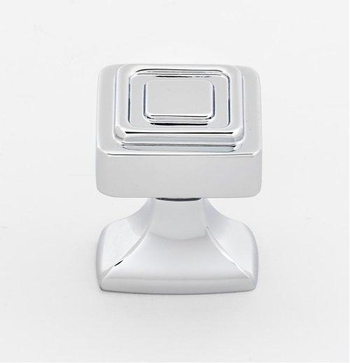 Cube Knob A985-1 - Polished Chrome