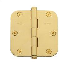 "Polished Brass 5/8"" Radius Corner Hinge"