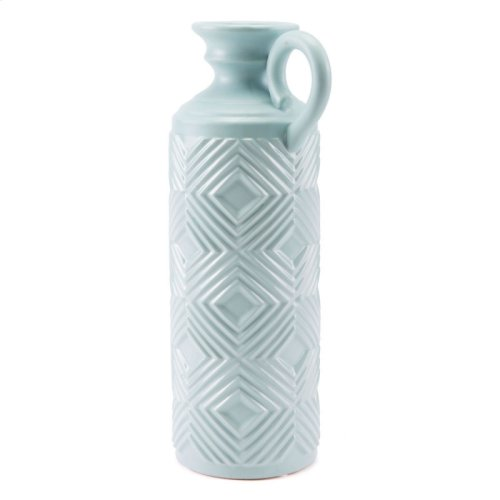 Herringbone Bottle Lg Blue