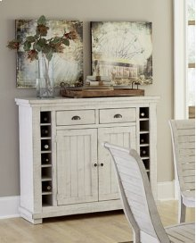 Server - Distressed White Finish
