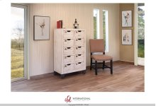 Multi-drawer Console w/10 numbered drawers