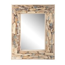 Driftwood and Seaglass Mirror.