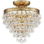 Calypso 3 Light Vibrant Gold Ceiling Mount