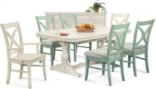 Hues Dining Side Chair with wood seat