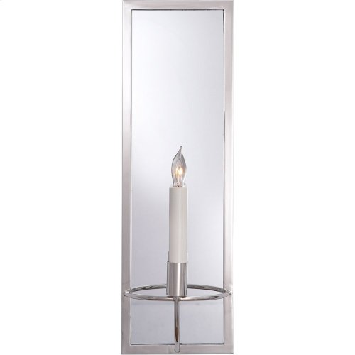 Visual Comfort NW2115PN Niermann Weeks Regent 1 Light 6 inch Polished Nickel with Mirror Sconce Wall Light, Niermann Weeks, Rectangular