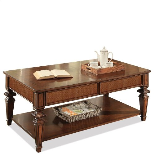 Windward Bay - Rectangular Coffee Table - Warm Rum Finish