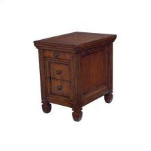 Chairside Table-Oak Finish