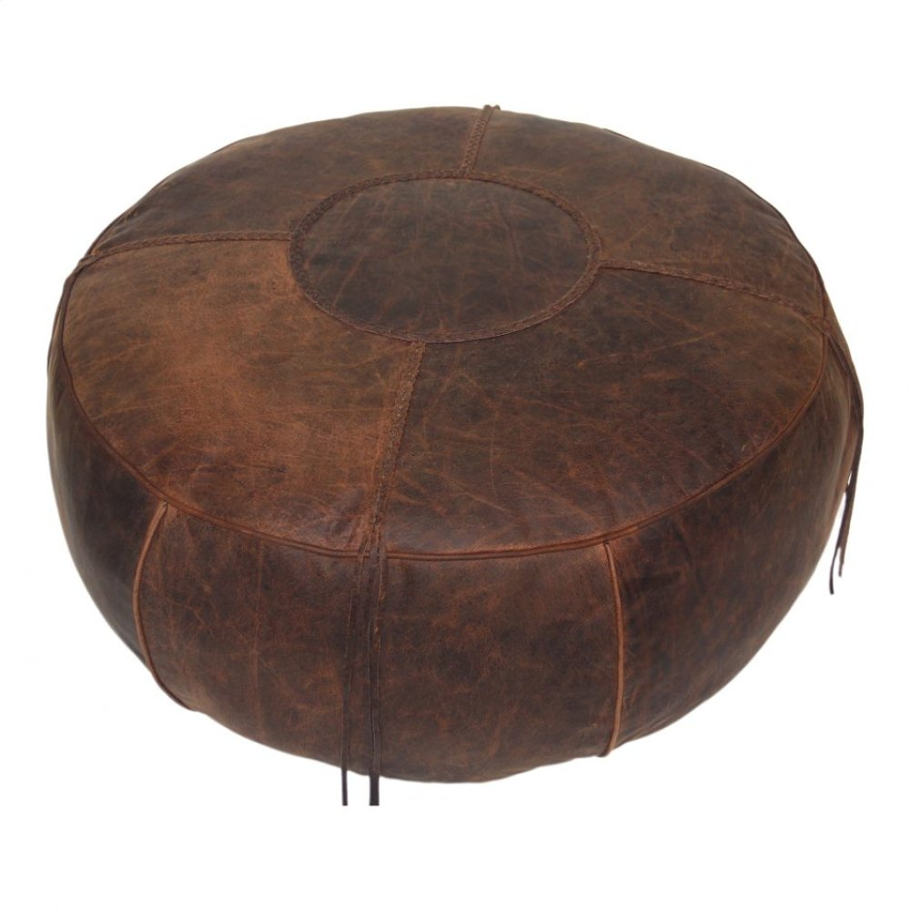 Laredo Ottoman Saddle Brown