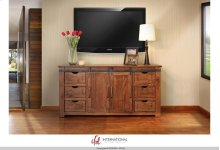 """70"""" TV Stand w/6 Drawer, 2 door w/2 shelves on each side"""