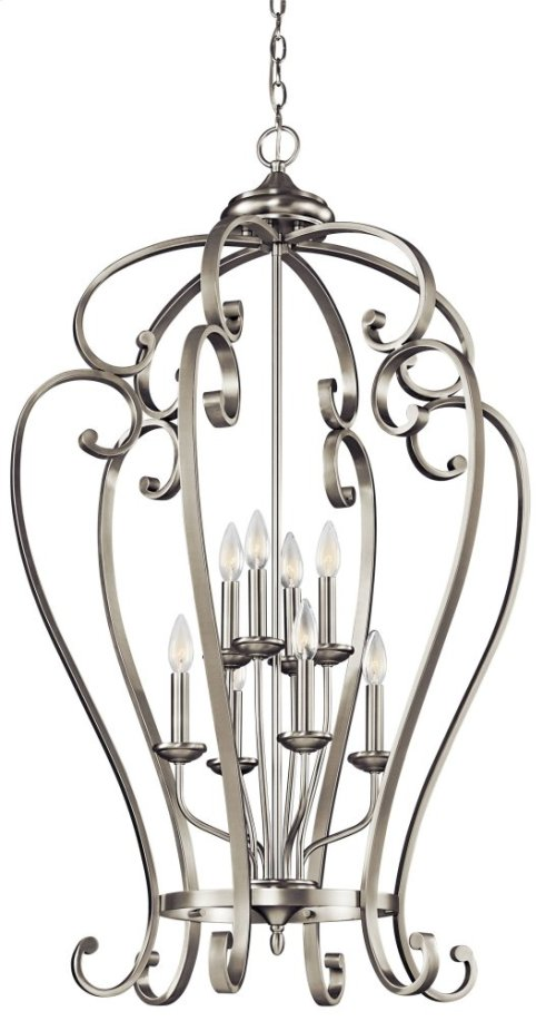 Monroe 8 Light Foyer Cage Pendant Brushed Nickel