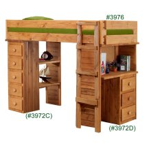 Twin Study Bunk Bed