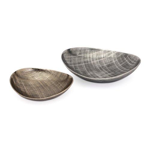 Ian Aluminum Decorative Trays - Set of 2