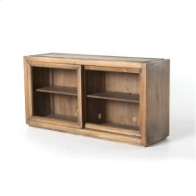 Bennet Stacking Media Console-oak/brass