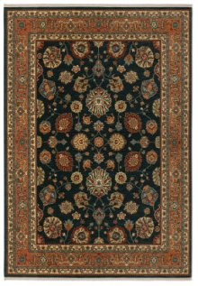 Sultana Navy Rectangle 4ft 3in X 6ft