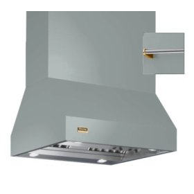 "54"" Wide Island Hood, Brass Accessory Rail on front, back and both sides"