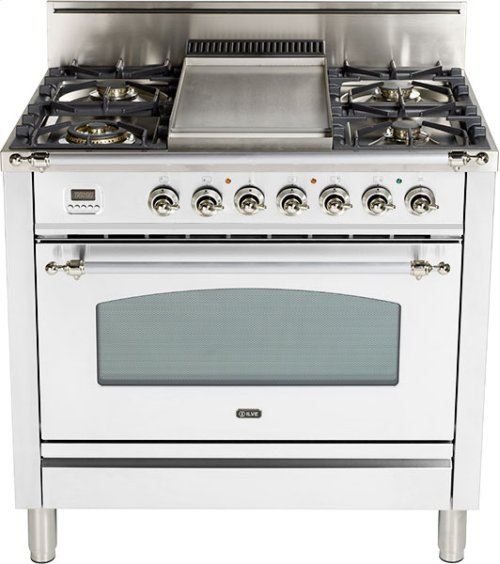 "True White - Nostalgie 36"" Gas Range"