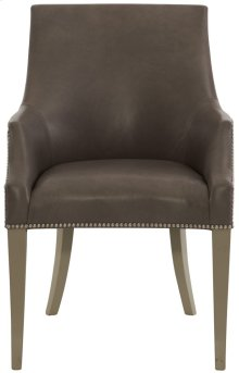 Keeley Leather Dining Chair in Smoke