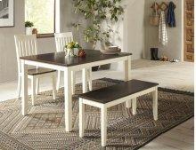 Decatur Lane Dining Chair (2/ctn) - Autumn Brown/white