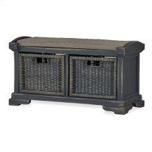 Homestead 2 Seater Bench w/ Rattan Baskets