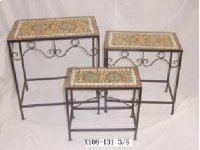 """Mosaic Tables Set of 3 - 23.5""""""""/19.75""""""""/15.75 Product Image"""