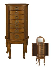 """Burnished Oak"" Jewelry Armoire"