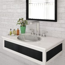 Taji Oval Undermount or Drop-in Stainless Steel Lavatory - Polished