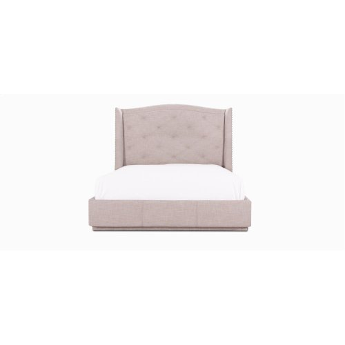 """Marilou Queen bed with decorative nails 7/8"""" (LC) Copper."""
