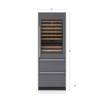 "SUB-ZERO30"" Designer Wine Storage with Refrigerator/Freezer Drawers - Panel Ready"
