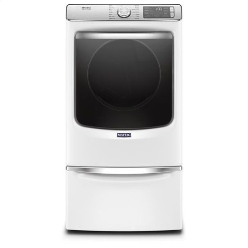 Maytag® Smart Front Load Electric Dryer with Extra Power and Advanced Moisture Sensing with industry-exclusive extra moisture sensor - 7.3 cu. ft. - White