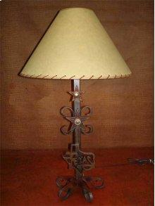 Metal Lamp With Texas Logo