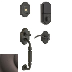 Distressed Venetian Bronze Evolved Canterbury Lever Sectional Handleset
