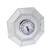 "Mirrored 7.75""OCTOGONAL Clock"
