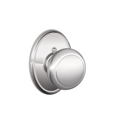Andover Knob with Wakefield trim Non-turning Lock - Bright Chrome