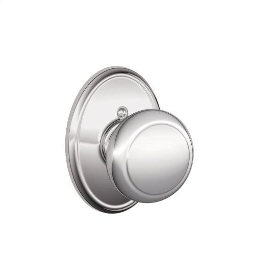 Andover Knob with Wakefield trim Non-turning Lock - Bright Chrome