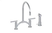 Sospiro Contemporary Bridge Kitchen Faucet with Independent Side Spray