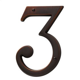 Venetian Bronze House Number - 3