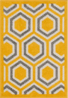 Lemon / Grey Rug