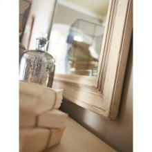 European Cottage-Landscape Mirror in Vintage White