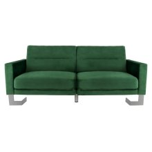 Tribeca Foldable Sofa Bed - Emerald Green / Silver