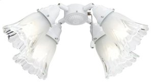 """Ceiling Fan Turtle Fitter Light Kit, 11""""w x 3-3/8""""h, in White finish Product Image"""