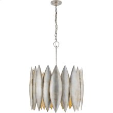 Visual Comfort S5048BSL Barry Goralnick Hatton 4 Light 31 inch Burnished Silver Leaf Pendant Ceiling Light, Barry Goralnick, Large