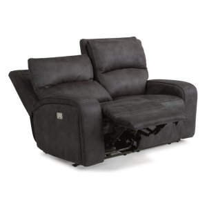 FLEXSTEELRhapsody Fabric Power Reclining Loveseat with Power Headrests