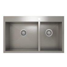 ProInox H0 60/40 Double Bowl Topmount Kitchen Sink ProInox H0 18-gauge Stainless Steel, 30'' X 16''