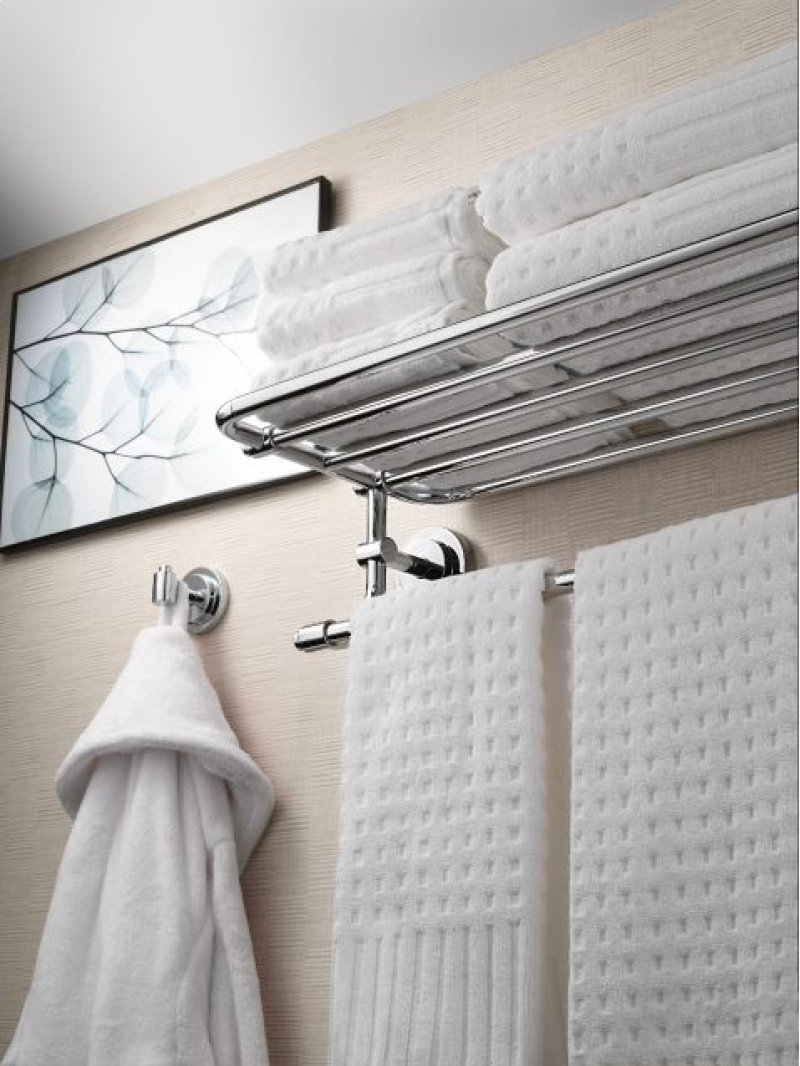 DN0794CH in Chrome by Moen in Painesville, OH - Iso chrome towel shelf