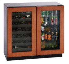 """3036BVWCOL***  Overlay Frame Double Door Modular 3000 Series / 36"""" Wine Captain® / Beverage Center / Dual Zone Convection Cooling System"""