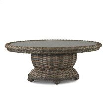 South Hampton Oval Cocktail Table with Woven Top