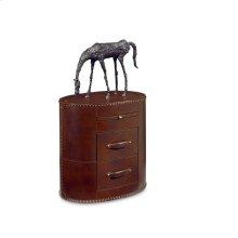 Saratoga Leather Accent Table